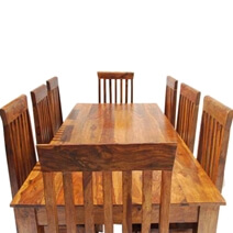 Rustic Classic Lincoln Study Dining Table and Chair Set