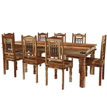 Dallas Classic 4, 6, 8, 10 Seater Solid Wood Rustic Dining Room Table Set