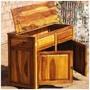 Dallas Ranch Rustic Solid Wood 2 Door Kitchen Storage Cabinet