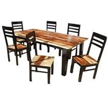 Dallas Ranch Vandana Contemporary Ladder-back Chair Dining Set