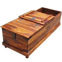 Solid Wood Bedroom Kokanee Rustic Storage Coffee Table