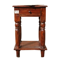 Cowles Solid Wood 2 Tier 1 Drawer Side End Table