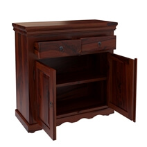 Tampa Rustic Solid Wood Handmade 2 Drawer Buffet Cabinet