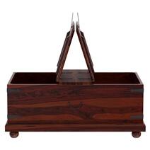 Kokanee Rustic Solid Wood Double Top Storage Trunk Coffee Table
