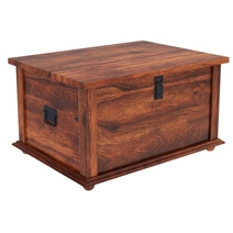 Primitive Wood Storage Grinnell Storage Chest Trunk Coffee Table