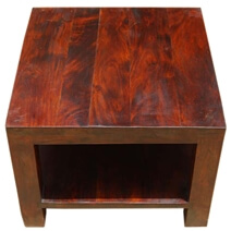 Winfield Elegant Rustic Solid Wood Square 2 Tier End Table