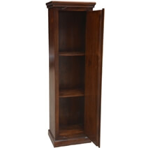 Barstow Antique Heritage Brass Accents Wood Tall Linen Cabinet