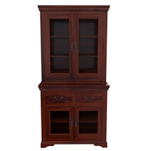 Pennsylvania Shaker Rustic Solid Wood Glass Door Dining Room Hutch