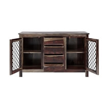 Florida Handcrafted Solid Wood Rustic Sideboard with 4 Drawers