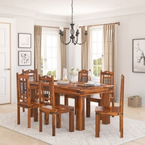 Philadelphia Classic 7pc Transitional Dining Room Table and Chair Set