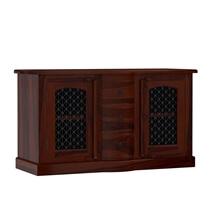 Philadelphia Solid Wood Iron Grill Door 3 Drawer Rustic Sideboard