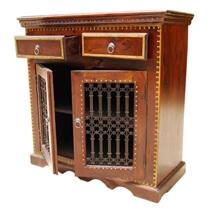 Philadelphia Handcrafted Solid Wood 2 Drawer TV Media Storage Cabinet