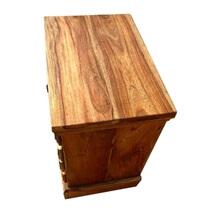 Adamsville Rustic Solid Wood 4 Drawer Nightstand