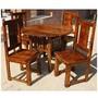 Santa Cruz 5pc Round Transitional Dining Room Table Chair Set