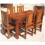 Santa Cruz Mission 7 Pc Dining Table and Chair Set