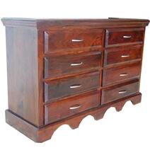 Sierra Solid Wood 8 Drawer Double Dresser