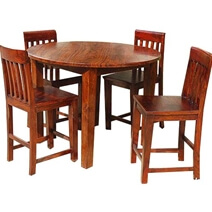 Sierra Nevada 5 pc Pub Table Bar Dining Room Table and Chair Set