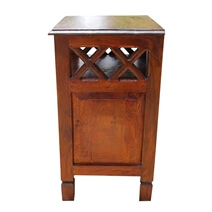 Solid Wood 2 Storage Drawers Side End Table Night Stand