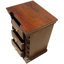Solid Wood 3 Storage Drawer End Side Corner Hall Table