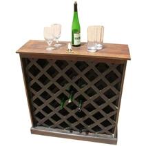 Norton Solid Wood Wine Bottle Storage Rack Holder