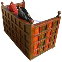 Solid Wood Bench Sofa Couch Storage Chest Furniture