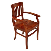 Siena Rustic Solid Wood Arm Dining Chair
