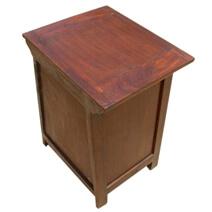 Blissfield Solid Wood Glass Door 1 Drawer Nightstand