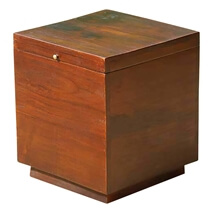 Solid Wood Square Storage Box Coffee Side End Table NEW