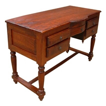 Solid Wood Storage Drawers Writing Desk Console Table