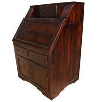 Colonial Natural Solid Wood Drop Front Home Office Secretary Desk