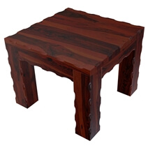 Yakima Contemporary Style Solid Wood Large Rustic End Table