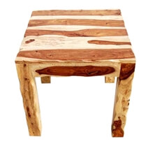 Cordova Natural Solid Wood Square End Table