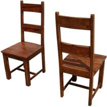Santa Cruz Mission Ladder Back Chair Set of 2
