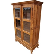 Inglis Premium Solid Wood Display Cabinet Armoire With Shelves