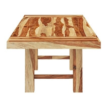 Bluffton Solid Wood Extendable Dining Table With Splayed Block Legs