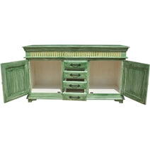 Oklahoma Farmhouse Distressed Solid Wood 4 Drawer Large Sideboard
