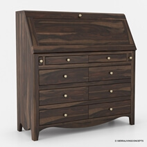 Philadelphia Solid Wood Handmade 44 Inch Drop Front Secretary Desk