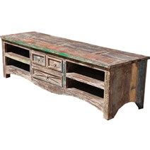 Appalachian Rustic Reclaimed Wood 3 Drawer Media Center