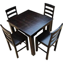 Solid Wood Counter Height Dining Table & Chairs Set