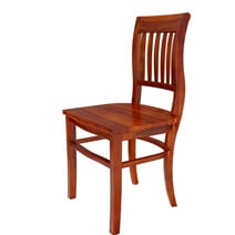 Siena Solid Wood Trestle Pedestal Dining Table & Barrel Back Chair Set