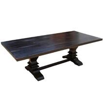 Trestle Pedestal Solid Wood Nottingham Rectangle Dining Table