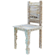 Tucson Rainbow Reclaimed Wood Shutter Back Dining Chair (Set of 2)