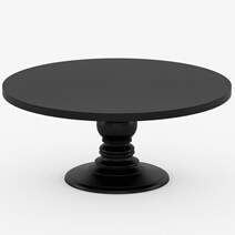 Nottingham Solid Wood Black Round Dining Table