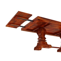 Chantilly Solid Wood Large Trestle Pedestal Extendable Dining Table