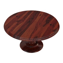Minsk Rustic Traditional Rosewood Pedestal Round Dining Table