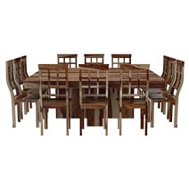 Dallas Ranch Square Dining Room Table and Chair Set