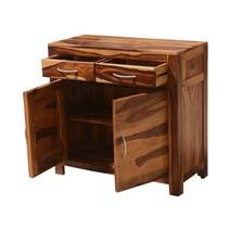 Appalachian Rustic Solid Wood 2 Drawer Storage Buffet Cabinet