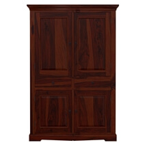 Rossford 4 Door Solid Wood Rustic Large TV Armoire Cabinet With Drawer