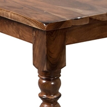 Early American Rustic Acacia Wood Dining Room Table