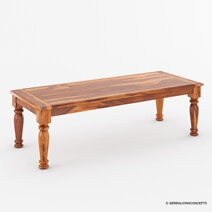 Clermont Rustic Solid Wood Rectangular Large Dining Room Table